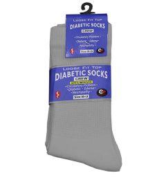 120 Units of Women's Heather Grey Diabetic Crew Sock - Women's Diabetic Socks