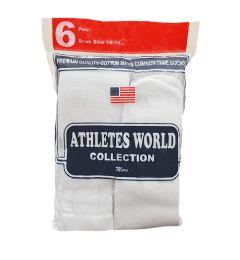 120 Units of Men's White Over The Calf Tube Sock, Size 10-15 - Mens Tube Sock