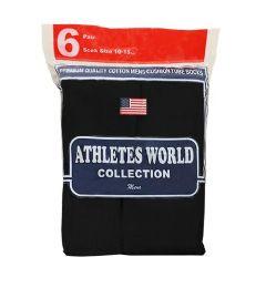 120 Units of Men's 6 Pair Pack Black Over the Calf Tube Sock, Size 10-15 - Mens Tube Sock