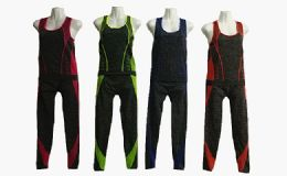 48 Units of Two Piece Sports Set Assorted Color - Womens Active Wear