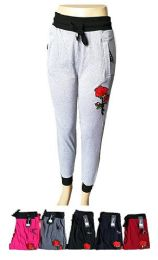 48 Units of Womens Active Yoga Lounge Sweat Pants with Pockets And Rose - Womens Pants