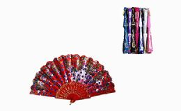 120 Units of Chinese Japanese Party Handheld Fan Assorted Color - Novelty & Party Sunglasses