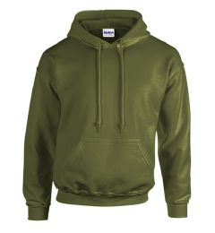12 Units of Gildan First Quality Unisex Military Green Crew neck Sweatshirt, Size Large - Mens Sweat Shirt
