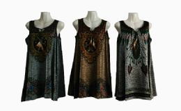 48 Units of Womens Fashion Tank Top Assorted Color With Tassel - Womens Camisoles & Tank Tops