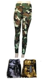 120 Units of Womens Camo Skinny Gym Pants - Womens Active Wear