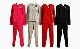 48 Units of Womens Two Piece Jogging Set Assorted Colors - Womens Active Wear