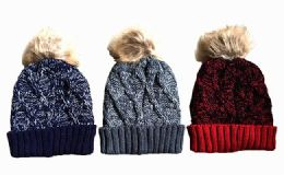 120 Units of Winter Thick Knitted Beanie Hat - Winter Beanie Hats
