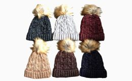 120 Units of Winter Thick Warm Knitted Beanie Hat - Winter Beanie Hats