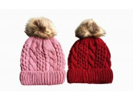 120 Units of Ladies Winter Thick Warm Knitted Beanie Hat - Winter Beanie Hats