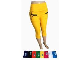 48 Units of Womens Ease in to Comfort Fit Modern Classic Capri - Womens Capri Pants