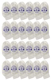 24 Units of Yacht & Smith Kids Value Pack Of Cotton Ankle Socks Size 2-4 White - Boys Ankle Sock