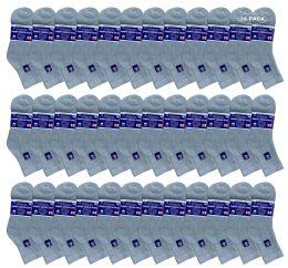 36 Units of Yacht & Smith Women's Diabetic Cotton Ankle Socks Soft NoN-Binding Comfort Socks Size 9-11 Gray - Women's Diabetic Socks