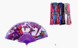 120 Units of Floral Hand Fans Folding Hand Fan Butterfly Dancing Fans Summer Handheld Folding Fans Party Favors for Girls Women - Novelty & Party Sunglasses