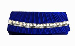 36 Units of Pleated Satin Wedding Evening Bridal Clutch Purse With Rhinestones - Handbags