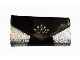 36 Units of Womens Snakeskin Pattern Rhinestone Evening Clutch Handbag - Handbags