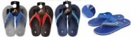 50 Units of Mens Flip Flops Packed Assorted Colors And Sizes With Retail Hang Tag - Men's Flip Flops and Sandals