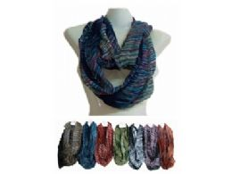 72 Units of Womens Fashion Scarf Infiniti Striped - Womens Fashion Scarves