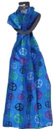 120 Units of Trendy Soft Peace Scarf - Womens Fashion Scarves