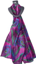 180 Units of Trendy Soft Peacock Scarf - Womens Fashion Scarves