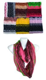 144 Units of Womens Fashion Pattern Scarves - Womens Fashion Scarves