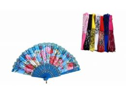 120 Units of Floral Folding Hand Fan Flowers Pattern Handheld Fans - Novelty & Party Sunglasses