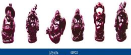 60 Units of Red Resin Laughing Buddha Statue Figurines - Home Decor