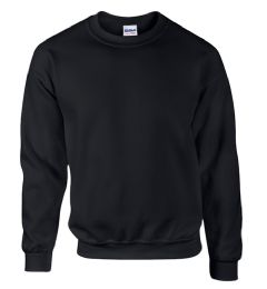 12 Units of Gildan First Quality Unisex Black Crew neck Sweatshirt, Size Medium - Mens Sweat Shirt