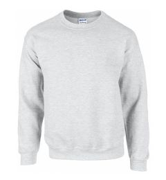 12 Units of Gildan First Quality Unisex Ash Grey Crew neck Sweatshirt, Size Small - Mens Sweat Shirt