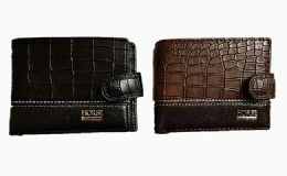 36 Units of Mens Bi Fold Horse Wallet With Snap Closure - Shoulder Bags & Messenger Bags