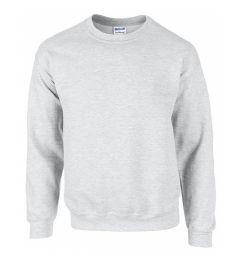 12 Units of Gildan First Quality Unisex Ash Grey Crew neck Sweatshirt, Size XLarge - Mens Sweat Shirt