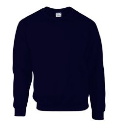 12 Units of Gildan First Quality Unisex Navy Crew neck Sweatshirt, Size Small - Mens Sweat Shirt