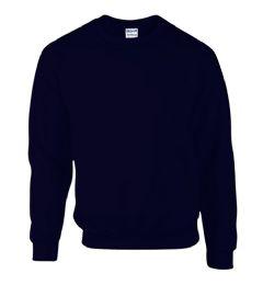 12 Units of Gildan First Quality Unisex Navy Crew neck Sweatshirt, Size Medium - Mens Sweat Shirt