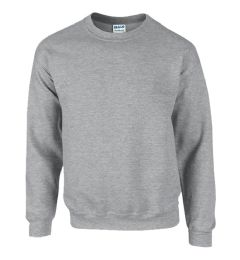 12 Units of Gildan First Quality Unisex Sport Grey Crew neck Sweatshirt, Size Small - Mens Sweat Shirt