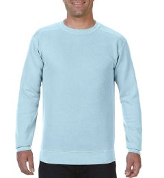12 Units of Comfort Colors First Quality Unisex Chambray Crew neck Sweatshirt, Size Medium - Mens Sweat Shirt
