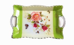 120 Units of Plastic Floral Tray With Handles - Serving Trays