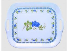 40 Units of Plastic Big Tray With Handles Rose - Serving Trays