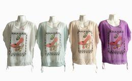 48 Units of Womens Short Sleeve High Heel Loose T Shirt Basic Tee Tops - Women's T-Shirts