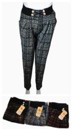 48 Units of Womens Plaid Fashion Pants - Womens Pants