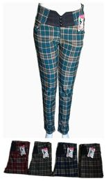 48 Units of Womens Ease in to Comfort Straight Leg Plaid Pant - Womens Pants