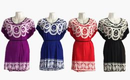 48 Units of Womens Round Neck Short Sleeve Blouse Tops Fashion Casual Tunic Shirts - Womens Fashion Tops
