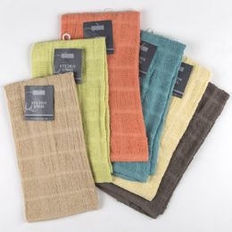 72 Units of Kitchen Towel 15x25 100% Cotton Assorted Colors - Kitchen Towels