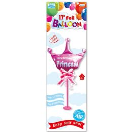 96 Units of Seventeen Inch Balloon Girl With Stand And Bow - Balloons & Balloon Holder