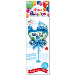 96 Units of Sixteen Inch Balloon Boy With Stand And Bow - Balloons & Balloon Holder