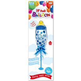 96 Units of Nineteen Inch Foil Balloon Boy - Balloons & Balloon Holder