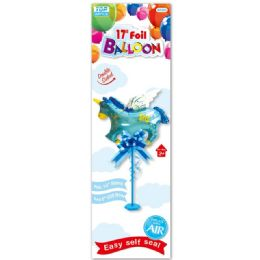 96 Units of Seventeen Inch Foil Balloon Boy - Balloons & Balloon Holder
