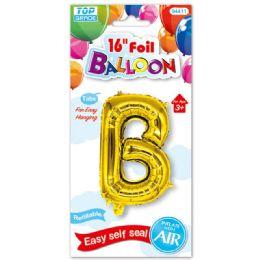 96 Units of Sixteen Inch Balloon Gold Letter B - Balloons & Balloon Holder