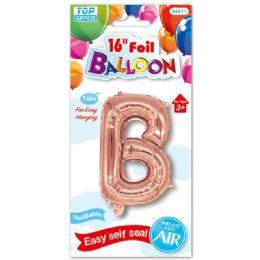 96 Units of Sixteen Inch Balloon Rose Gold Letter B - Balloons & Balloon Holder