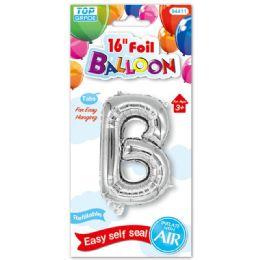96 Units of Sixteen Inch Balloon Silver Letter B - Balloons & Balloon Holder