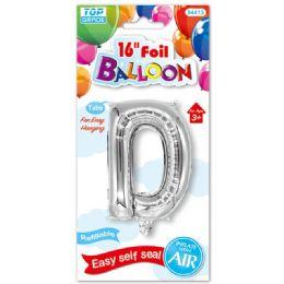 96 Units of Sixteen Inch Balloon Silver Letter D - Balloons & Balloon Holder