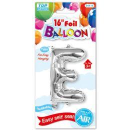 96 Units of Sixteen Inch Balloon Silver Letter E - Balloons & Balloon Holder